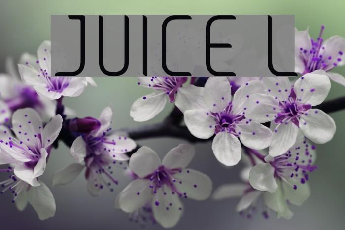 JUICE Light Font examples