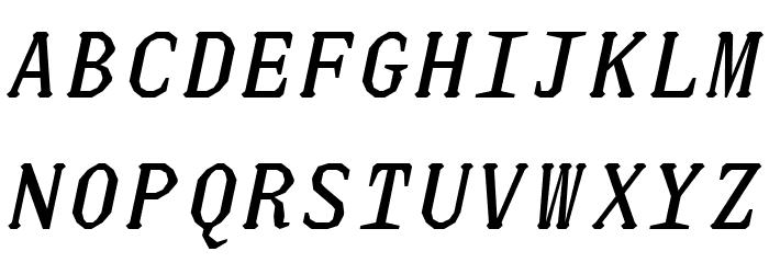JUstice Mono Oblique Font UPPERCASE