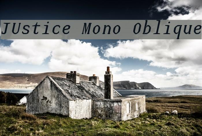 JUstice Mono Oblique Font examples