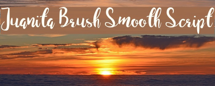 Juanita Brush Smooth Script Polices examples