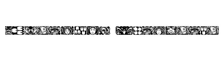 Jugendstil Ornamente  Free Fonts Download