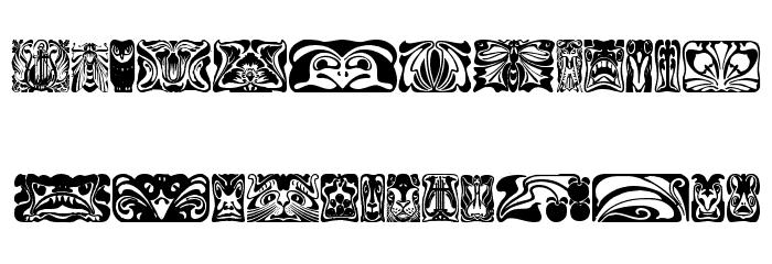 Jugendstil Ornamente Font Download Free Fonts Download