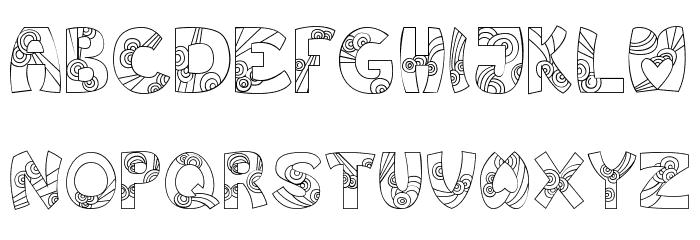 Jump Font UPPERCASE