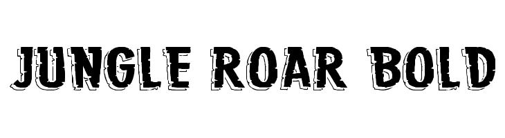 Jungle Roar Bold  Скачать бесплатные шрифты