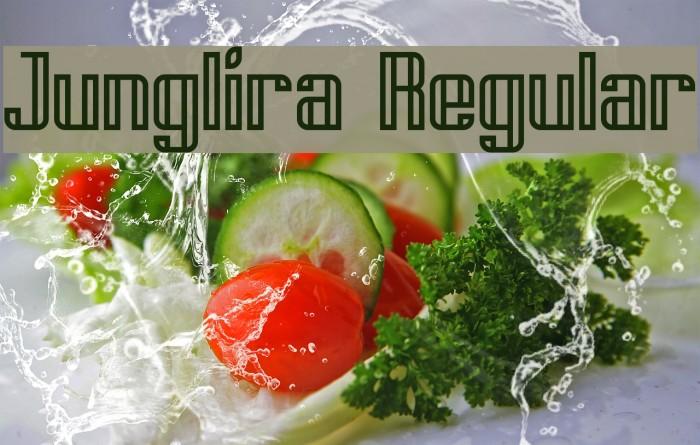 Junglira Regular لخطوط تنزيل examples
