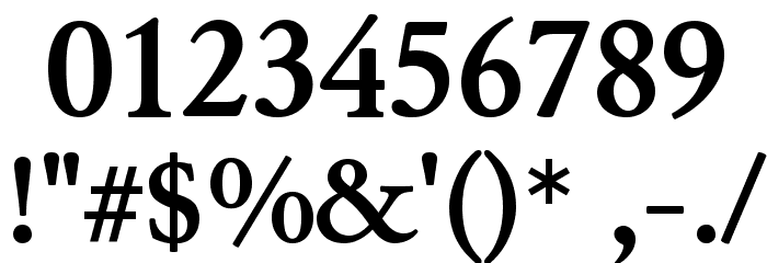 Junicode Bold Font OTHER CHARS