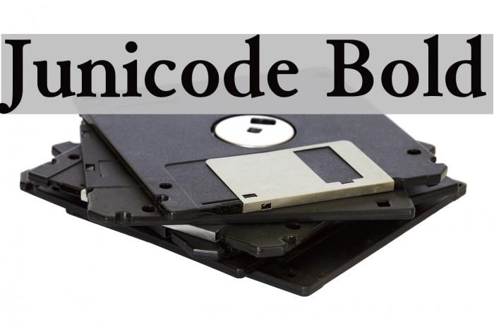 Junicode Bold Font examples