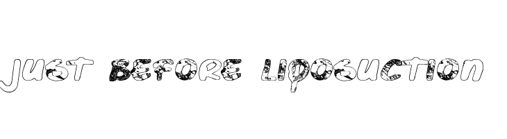 Just Before Liposuction  Free Fonts Download
