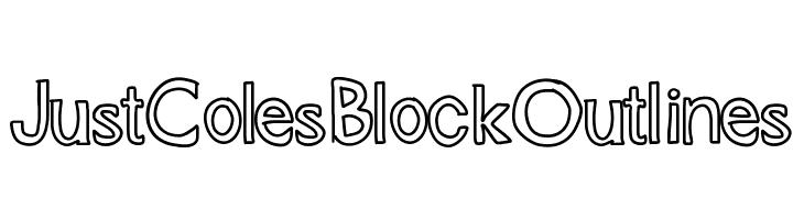 JustColesBlockOutlines  Descarca Fonturi Gratis
