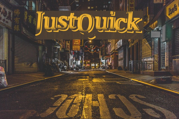 JustQuick Fonte examples