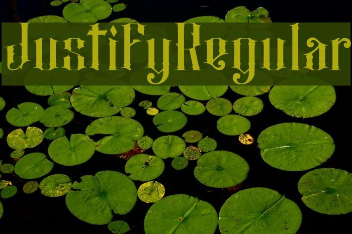 JustifyRegular फ़ॉन्ट examples