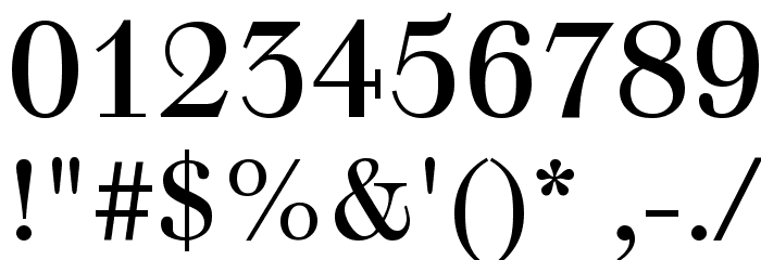Justus Roman Font OTHER CHARS