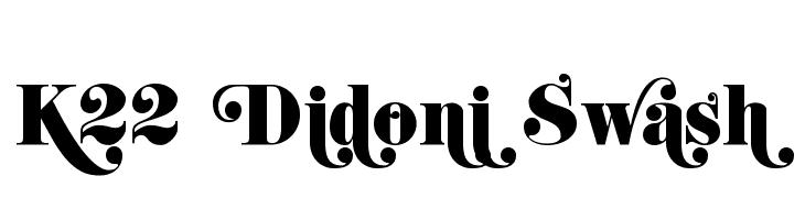 K22 Didoni Swash  Free Fonts Download