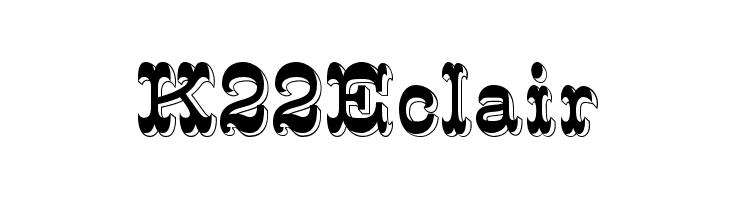 K22 Eclair  Free Fonts Download