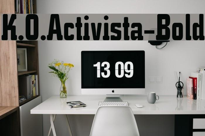 K.O.Activista-Bold Font examples
