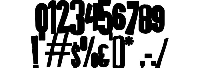 K.P. Duty - Frazzled JL Font OTHER CHARS