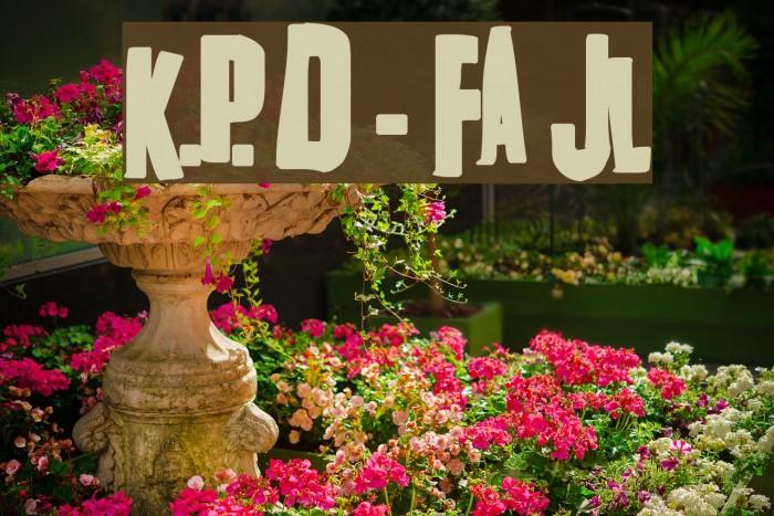 K.P. Duty - Frazzled JL Font examples