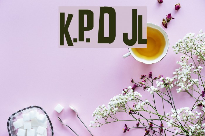 K.P. Duty JL Шрифта examples