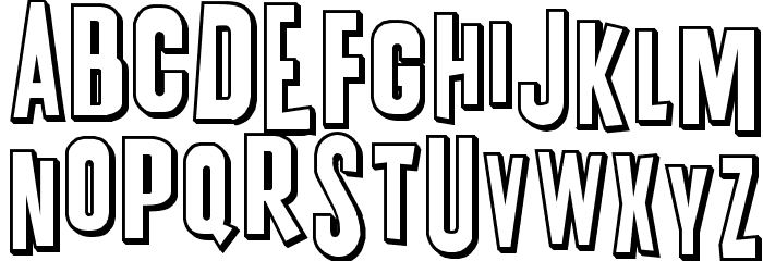 K.P. Duty Overtime JL Font UPPERCASE
