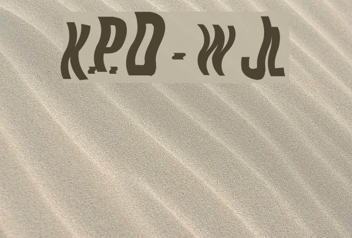 K.P. Duty - Woozy JL फ़ॉन्ट examples