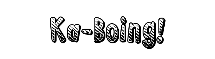 Ka-Boing!  नि: शुल्क फ़ॉन्ट्स डाउनलोड