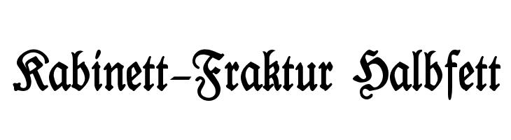 Kabinett-Fraktur Halbfett  Скачать бесплатные шрифты