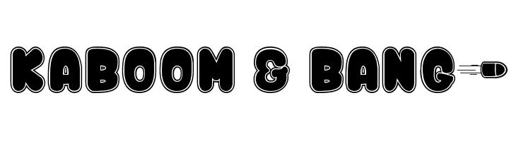 Kaboom & Bang$  Скачать бесплатные шрифты