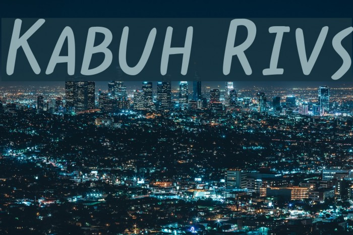 Kabuh Rivs Font examples