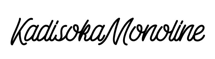 Kadisoka-Monoline  Free Fonts Download