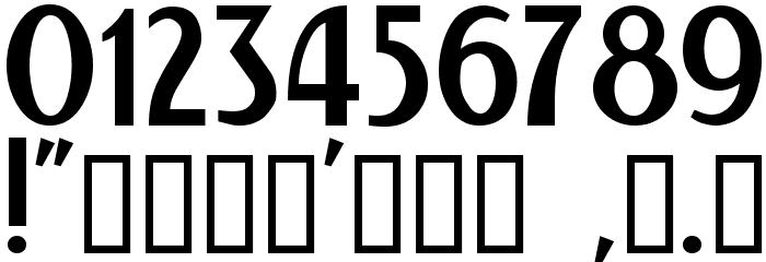 Kalenderblatt Grotesk Font OTHER CHARS