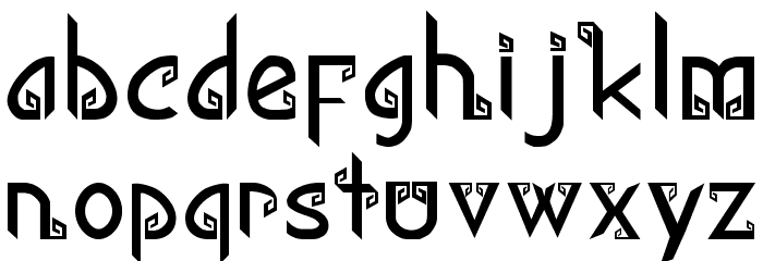 Kana Regular Font LOWERCASE