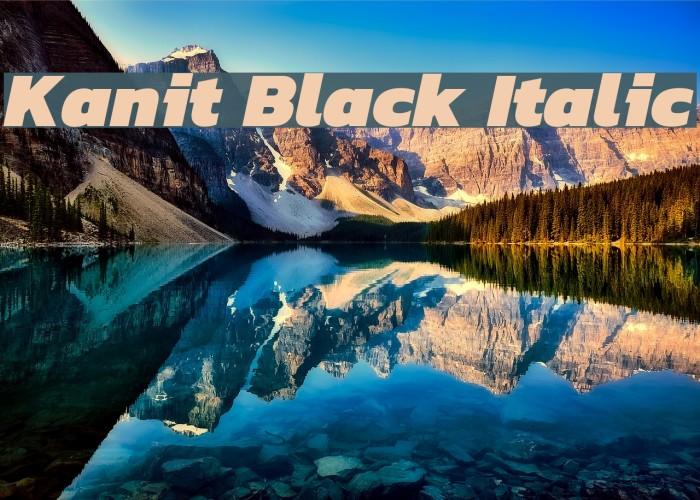 Kanit Black Italic لخطوط تنزيل examples