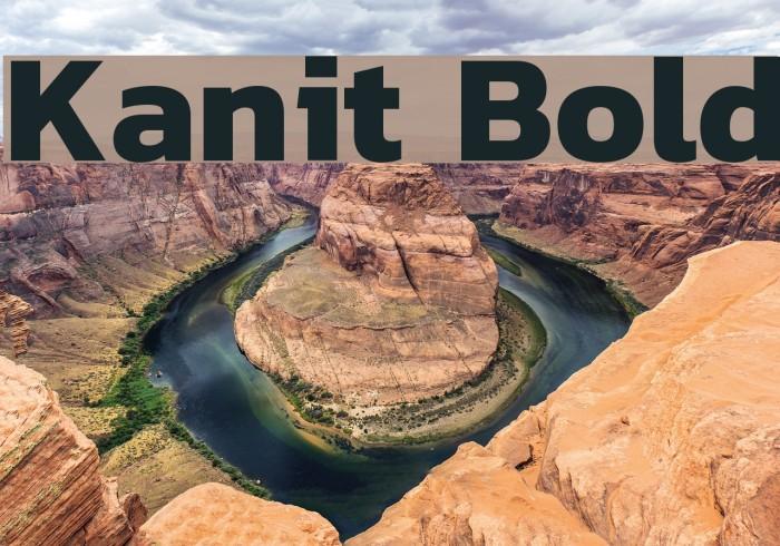 Kanit Bold Font examples