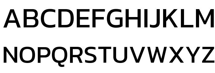 Kanit Font UPPERCASE