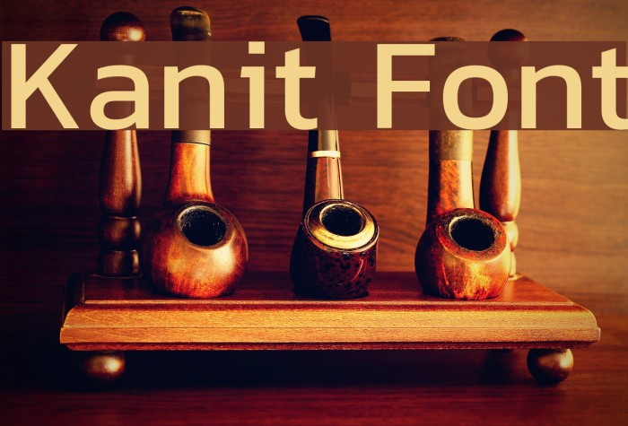 Kanit Font examples
