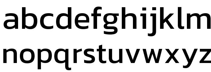 Kanit Font LOWERCASE