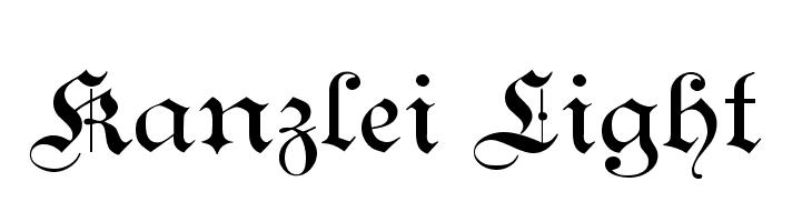 Kanzlei Light  les polices de caractères gratuit télécharger