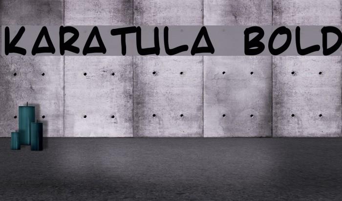 Karatula Bold फ़ॉन्ट examples