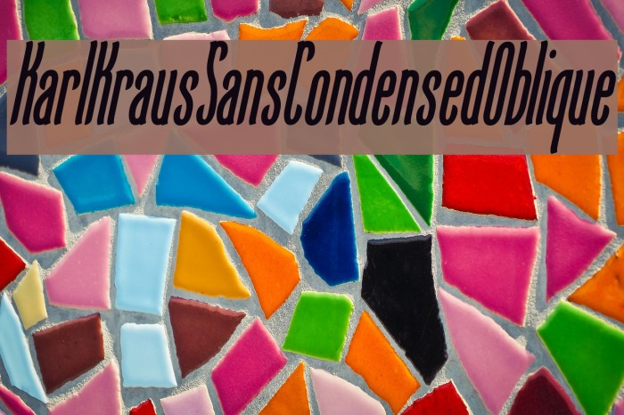 KarlKrausSansCondensedOblique Font examples