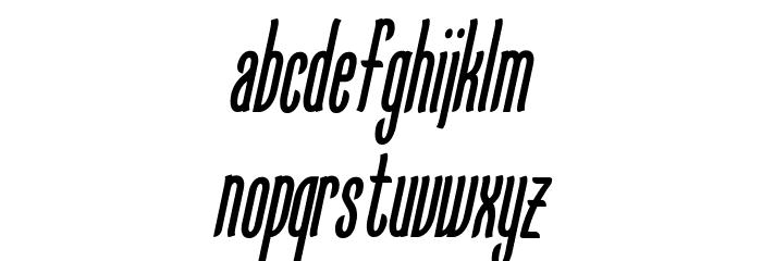 KarlKrausSansCondensedOblique Font LOWERCASE