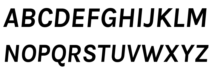 Karla Bold Italic Font Litere mari