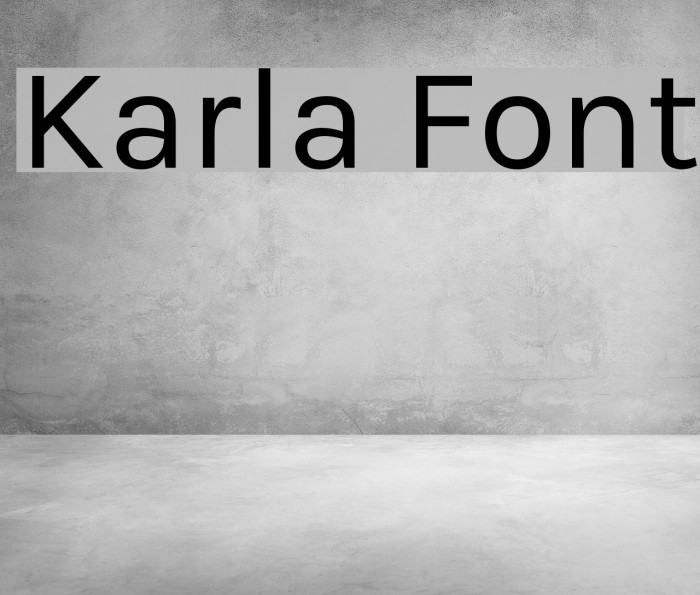 Karla Font examples