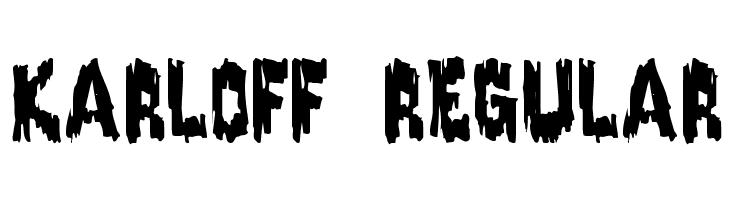 Karloff Regular  Free Fonts Download