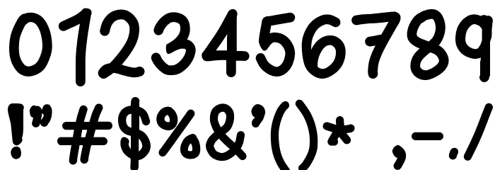 Kasuki Hand Normal Font OTHER CHARS