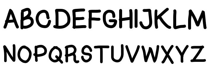 Kasuki Hand Normal Font UPPERCASE