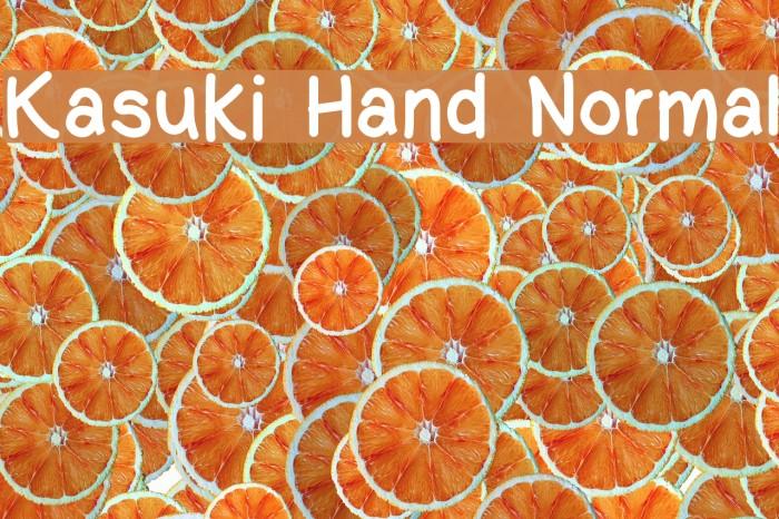 Kasuki Hand Normal Font examples