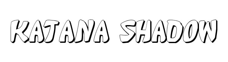 Katana Shadow  Free Fonts Download