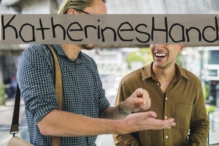 KatherinesHand Font examples