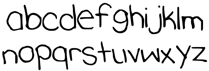 KatherinesHand Font LOWERCASE