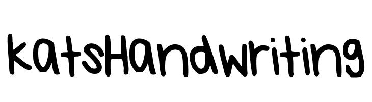 KatsHandwriting  les polices de caractères gratuit télécharger